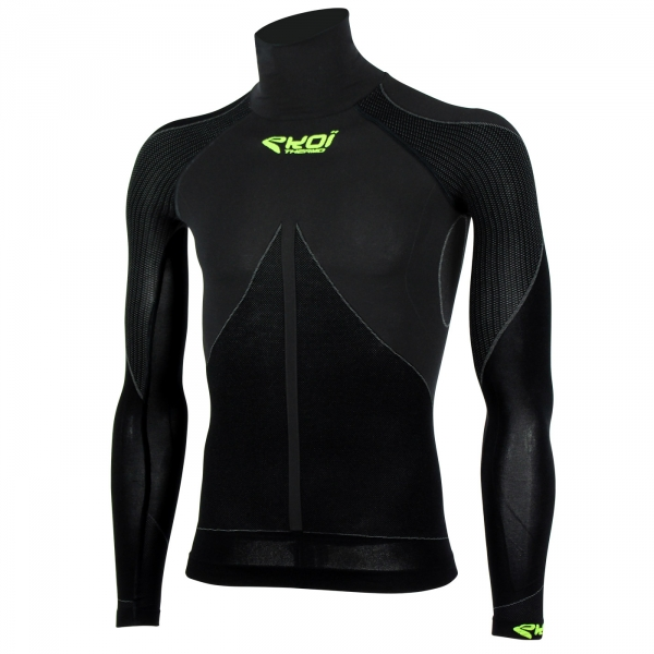 Top EKOI ML TECH 3 Collo alto nero