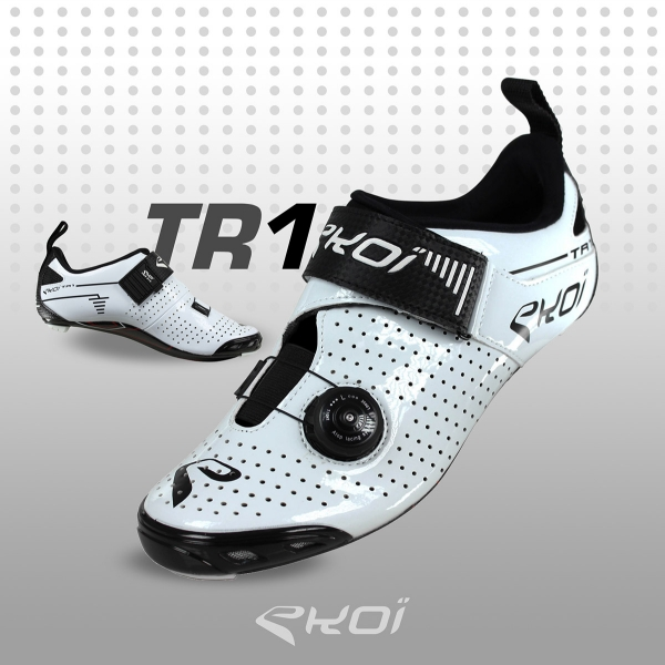 Scarpe Triathlon EKOI TR1 LD Carbonio bianche