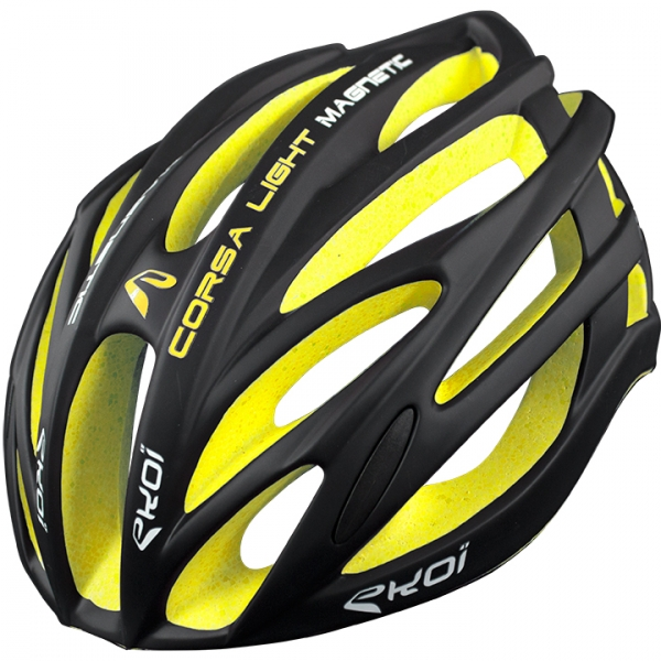 Casco EKOI CORSA LIGHT nero giallo