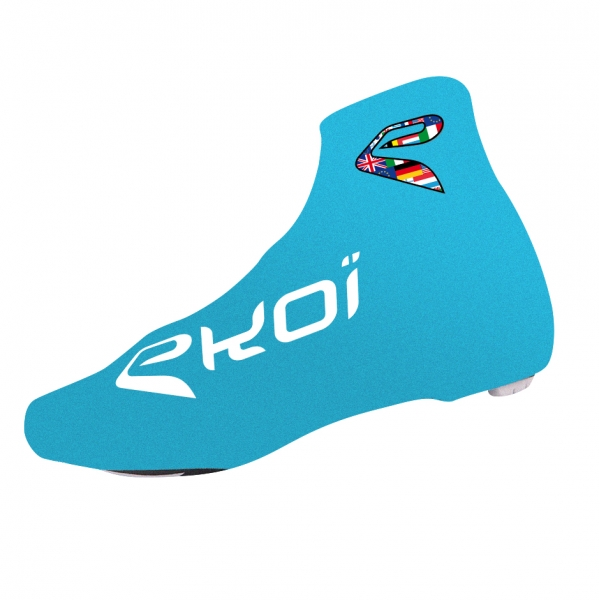 Copriscarpe ciclismo estate EKOI COMP 2017 Blu