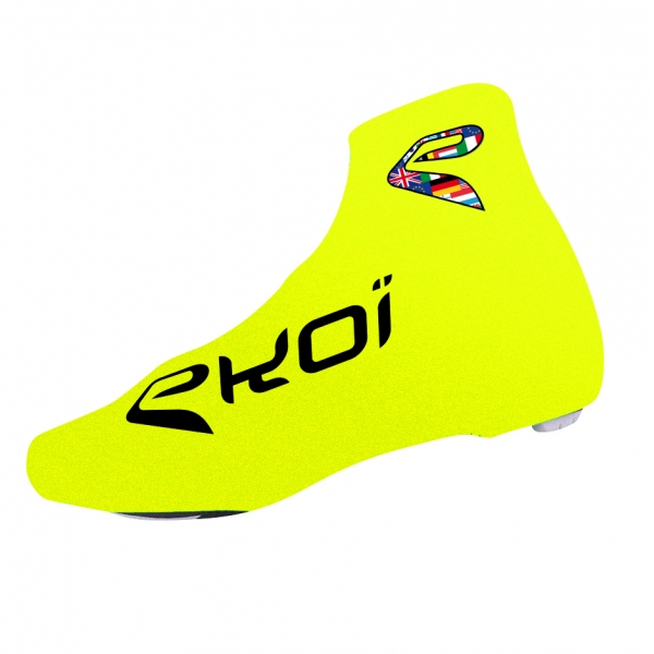 Copriscarpe ciclismo estate EKOI COMP 2017 Giallo fluo