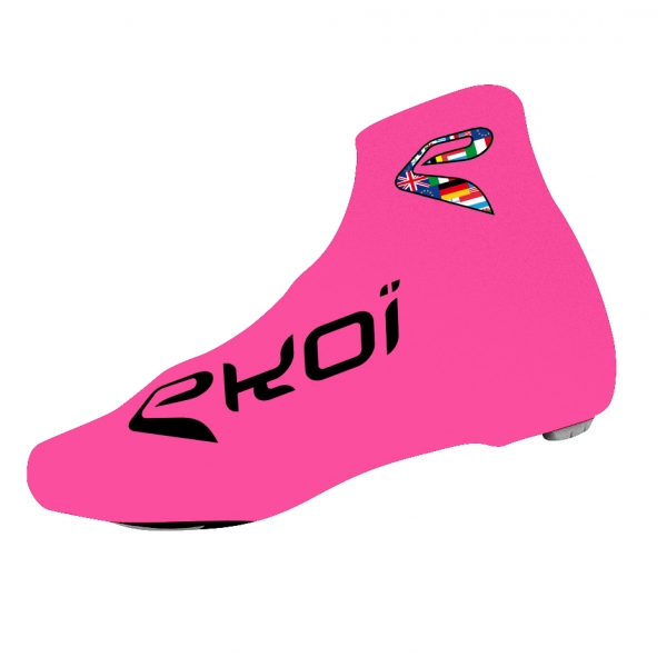 Copriscarpe ciclismo estate EKOI COMP 2017 Rosa fluo
