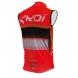 Gilet anti vento EKOI COMP10 Rosso nero bianco