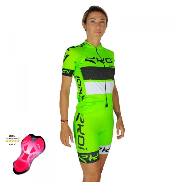 Pack femme EKOI COMP10 Gel Vert Noir Blanc