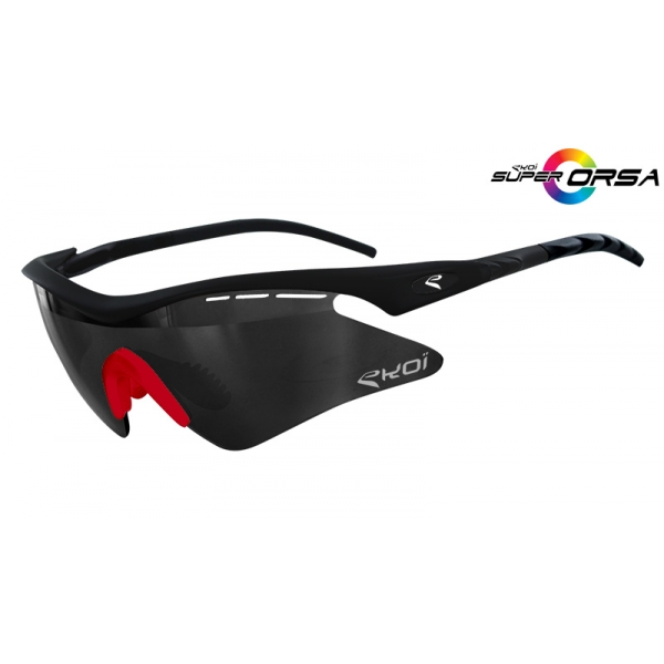 Super Corsa EKOI LTD Noir mat rouge Mirror