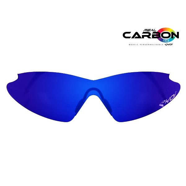 Verre solaire revo bleu EKOI REAL CARBON RACE