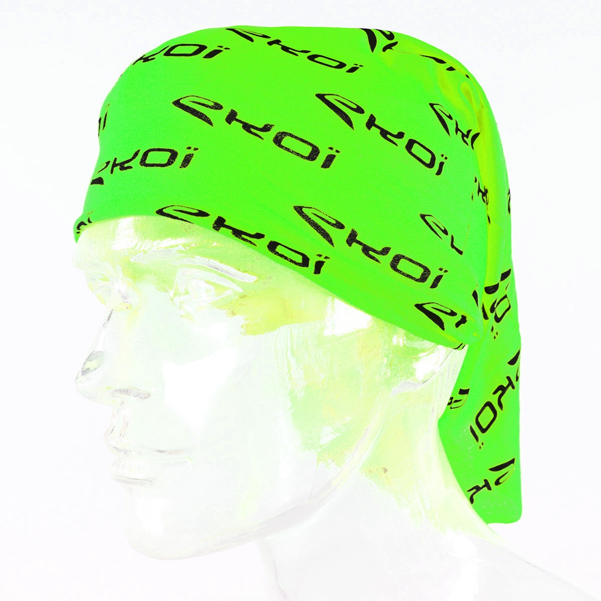 bandana tour de cou ekoi verde fluo ekoi. Black Bedroom Furniture Sets. Home Design Ideas