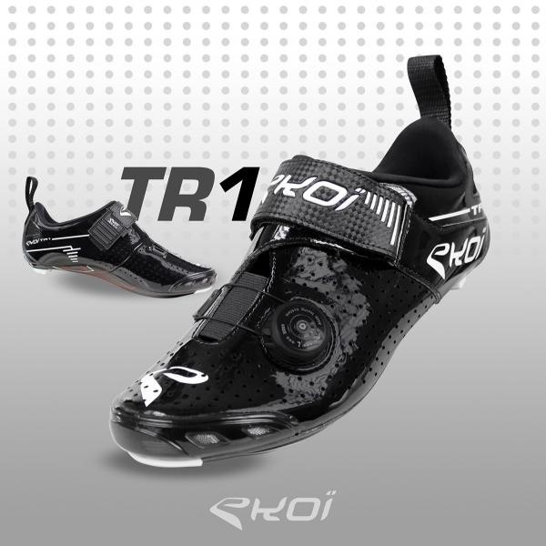 Scarpe Triathlon EKOI TR1 LD Carbonio nere