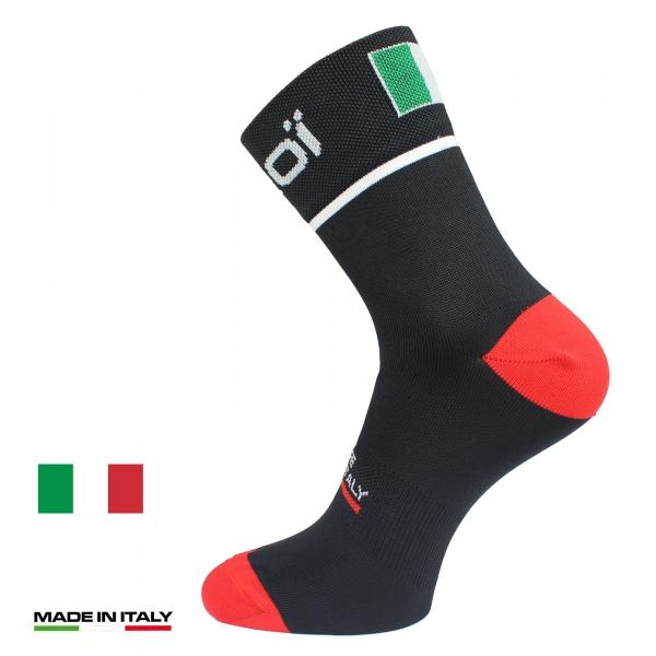 Calze estive ciclismo EKOI NATION Nere Italia