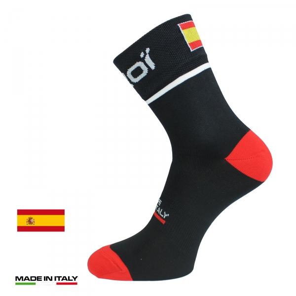 Calze estive ciclismo EKOI NATION Nere Spagna