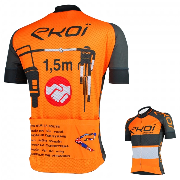 Maillot été EKOI PROTECT Orange Gris