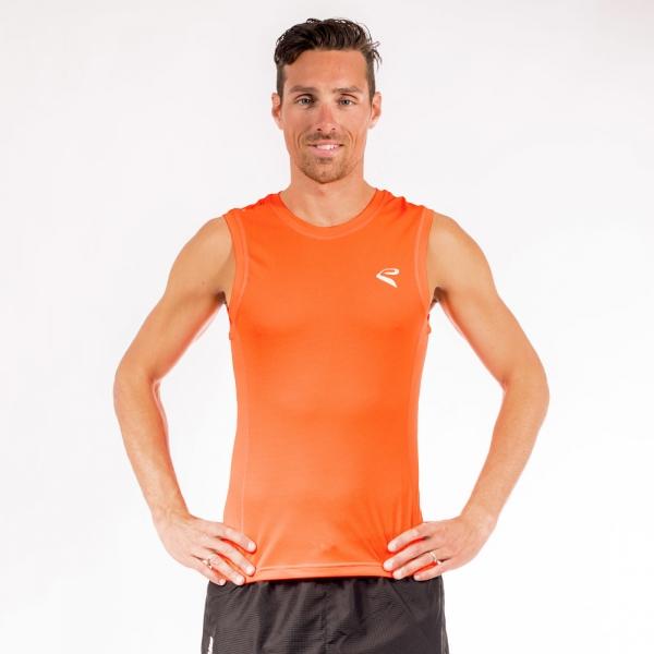 Tshirt EKOI RUN sans manches Orange