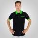 Polo été EKOI Cycling Team Noir Vert fluo