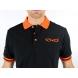 Polo été EKOI Cycling Team Noir Orange fluo