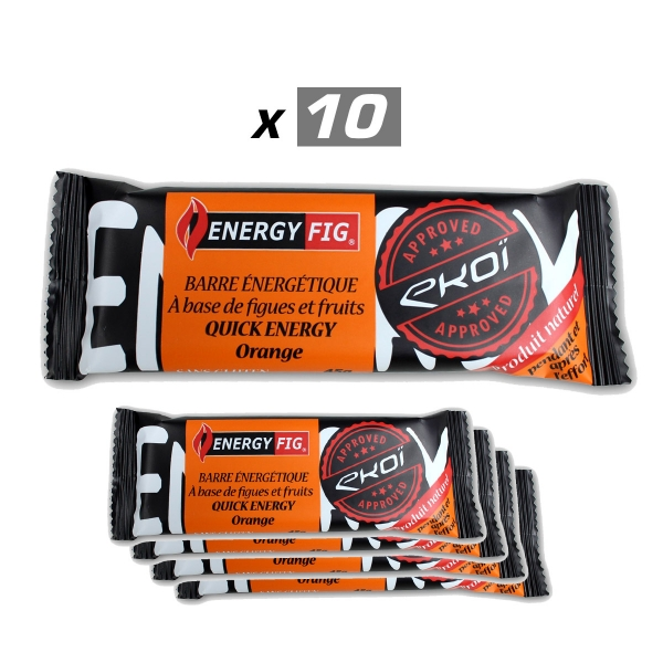 Pack 10 Energy Fig Barre Orange